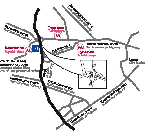 Схема проезда к Крокус Экспо в Москве